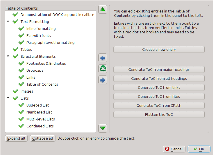 Editing e books calibre 3290 documentation the edit table of contents tool solutioingenieria Gallery